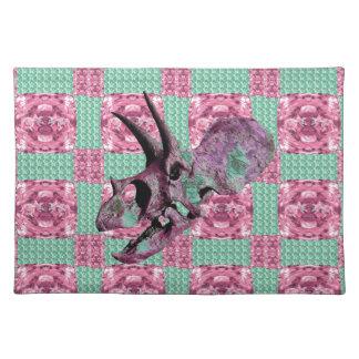 Het roze Geometrische Patroon van de Schedel van Placemat