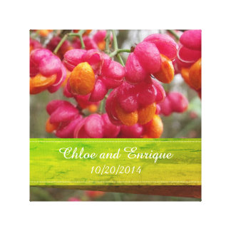 Het roze Gepersonaliseerde Huwelijk van het Fruit Canvas Afdrukken