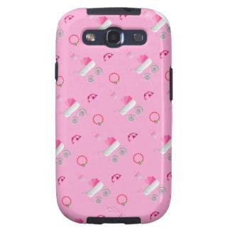 Het roze geval van Samsung van de Wandelwagen van  Galaxy S3 Hoesjes