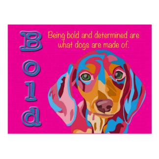 Het roze Gewaagde en Bepaalde Spreuk van de Briefkaart