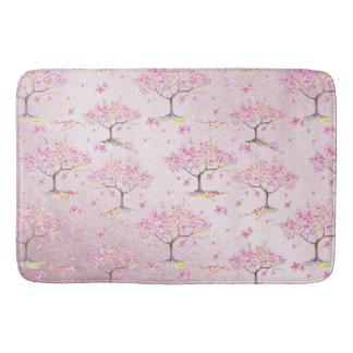 Het roze Glanzende Patroon van de Lente van de Badmat