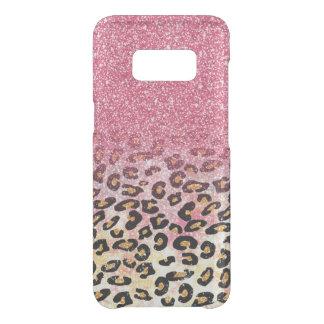 Het roze goud faux schittert luipaard dierlijke get uncommon samsung galaxy s8 hoesje