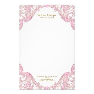 Het roze Goud schittert het Elegante Roze Goud van Briefpapier