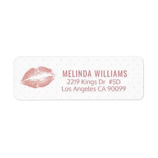 Het roze-goud schittert het patroon van Lippen & Etiket