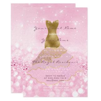 Het roze Goud van de Kleding schittert het Bruids Kaart