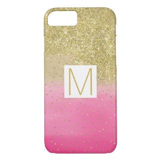 Het roze Goud van Faux van de Waterverf schittert iPhone 8/7 Hoesje