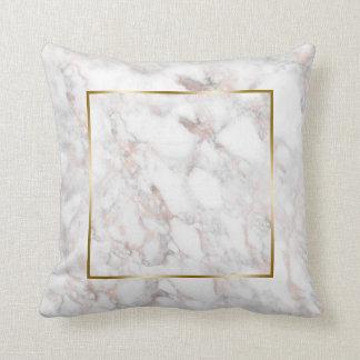 Het roze-gouden Marmeren Lijst van de Grens van de Sierkussen