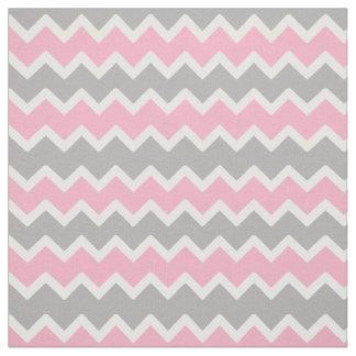 Het roze Grijze Grijze Patroon van de Zigzag van Stof