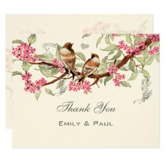Het roze & Grijze Vintage Huwelijk RSVP van de 10,8x13,9 Uitnodiging Kaart