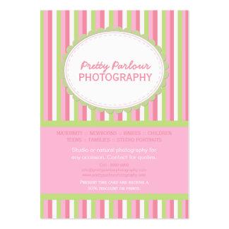 Het roze Groene Gestreepte Visitekaartje van de Fo