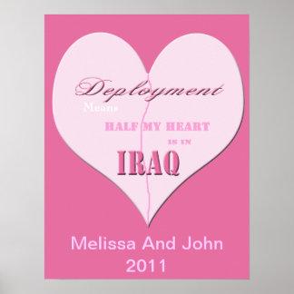 Het roze Halve Poster van Irak van de Plaatsing va