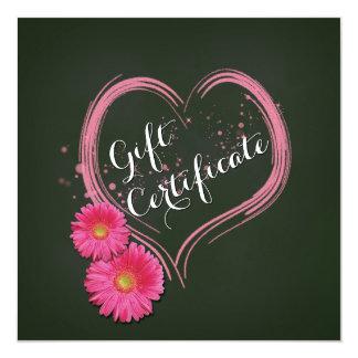 Het roze Hart bloeit het Certificaat van de Gift Kaart