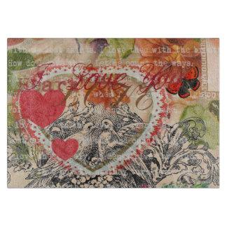 Het Roze Hart van de Vogels van de liefde Snijplank