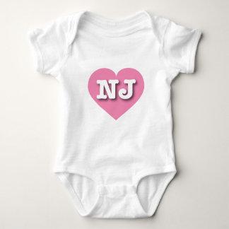 Het Roze Hart van New Jersey - Grote Liefde Romper