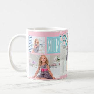 Het Roze/het Blauw van de Collage van de Foto van Koffiemok