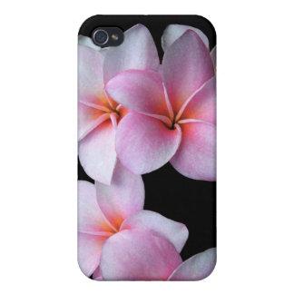 Het roze Hoesje van iPhone Plumeria iPhone 4 Hoesjes