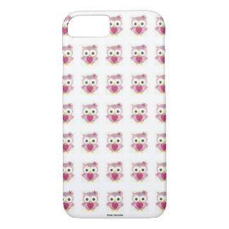 Het roze Hoesje van iPhone van de Uil van het Baby