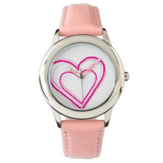Het roze Horloge van het Hart