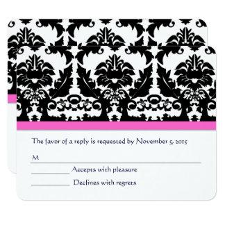 Het roze Huwelijk RSVP van het duizendblad Zwarte Kaart