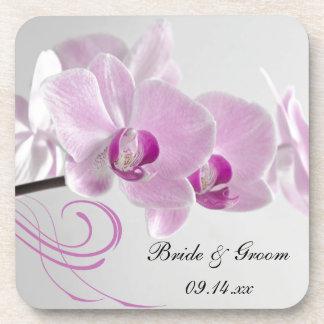 Het roze Huwelijk van de Elegantie van de Orchidee Bier Onderzetter