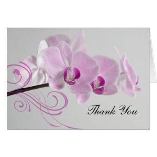 Het roze Huwelijk van de Elegantie van de Orchidee Notitiekaart