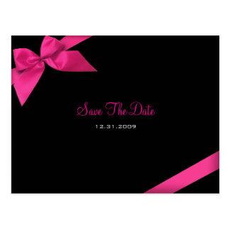 Het roze Huwelijk van het Lint bewaart de Aankondi Wenskaart