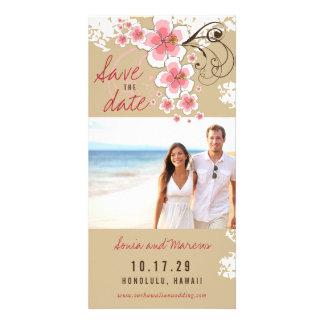 Het roze Huwelijk van het Strand van de Hibiscus Kaart