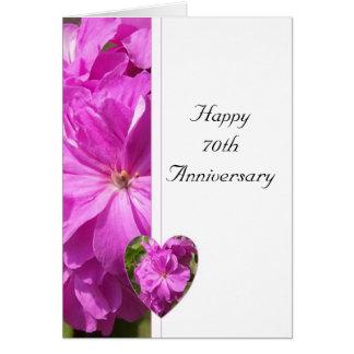 Het roze Jubileum van het Huwelijk van de Geranium Wenskaart