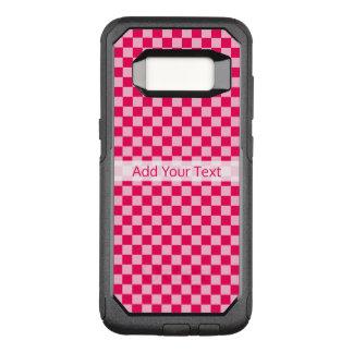 Het roze Klassieke Schaakbord van de Combinatie OtterBox Commuter Samsung Galaxy S8 Hoesje