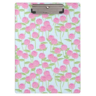 Het roze Klembord van de Tuin van de Dahlia
