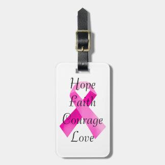 Het roze Label van de Bagage van het Geloof van Kofferlabel