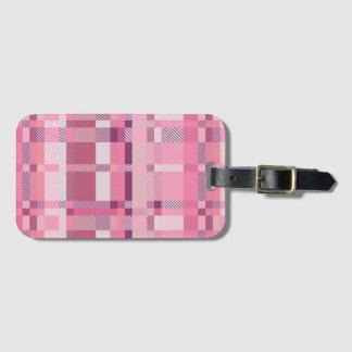Het roze Label van de Bagage van het Geruite Kofferlabels