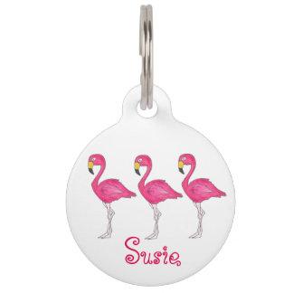 Het roze Label van het Huisdier van de Flamingo's Huisdier Labels