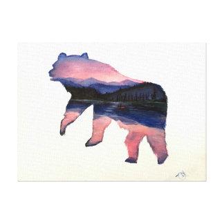 het roze landschap draagt canvas print