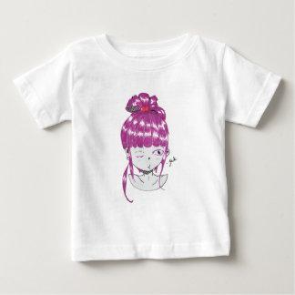 het roze meisje van de haar anime stijl baby t shirts