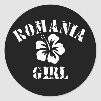 Het Roze Meisje van Roemenië Ronde Sticker