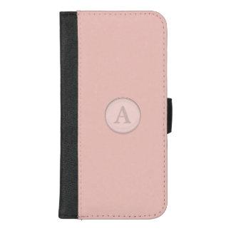 Het roze Monogram van de Knoop van het Glas iPhone 8/7 Plus Portemonnee Hoesje