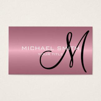 Het roze Monogram van het Metaal van het Roestvrij Visitekaartjes