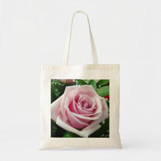 Het roze nam BloemenCanvas tas toe