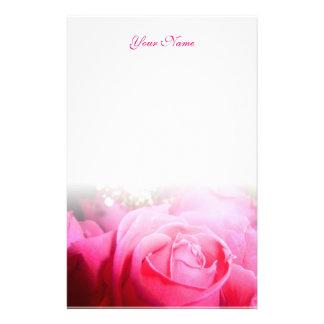 Het roze nam Briefhoofd toe Briefpapier