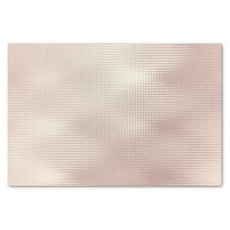 Het roze nam Gouden Metaal bloost de Strepen van Tissuepapier