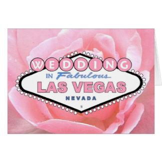 Het roze nam HUWELIJK in de Kaart van Las Vegas