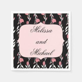 Het roze nam Huwelijk toe Wegwerp Servet