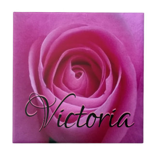 Het roze nam in Bloei met Uw Ceramiektegel van de Tegeltje