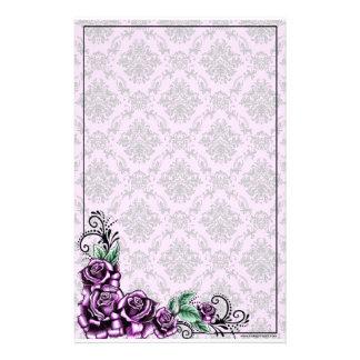 Het roze nam Kantoorbehoeften van het Patroon van Briefpapier