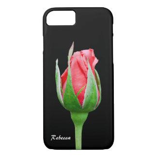Het roze nam knop toe iPhone 7 hoesje
