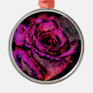 Het roze nam met Camille K toe Zilverkleurig Rond Ornament