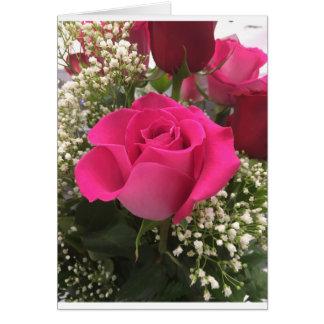 Het roze nam Notecard toe Briefkaarten 0