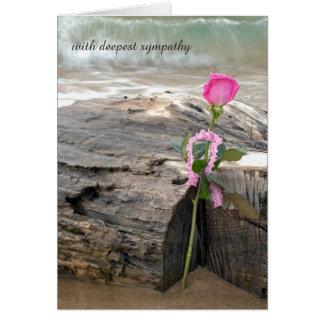 het roze nam op drijfhoutsympathie toe briefkaarten 0