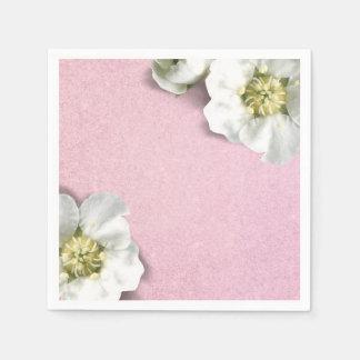 Het roze nam Pastelkleur toe de Witte Jasmijn Papieren Servet